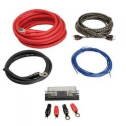 KIT CABLE RCA + CABLE ALIM 35MM2 + PORTE FUSIBLE + FUSIBLE + 4 COSSES