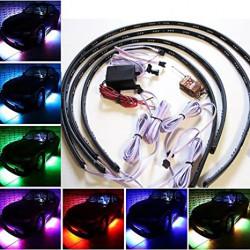 Kit Eclairage Flexible Sous Chassis Auto Voiture RGB Multicolore