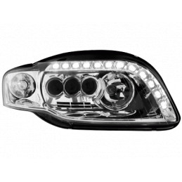 Phare Full LED Set Audi A4 B7 05-08 Chrome + Daytime Runnin