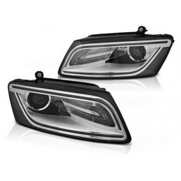 Phares AUDI Q5 08.12-17 CHROME LED DRL