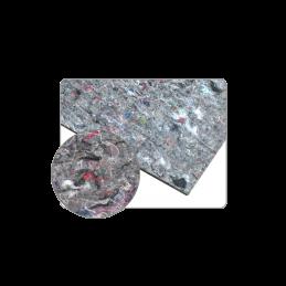 2 plaques de bitume insonorisantes adhésives avec couche de feutre10mm x 500mm x 500mm