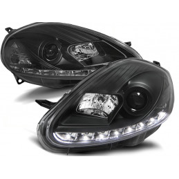 Phares Fiat Grande Punto 05-08 Devil Eyes Dlite LED Noir