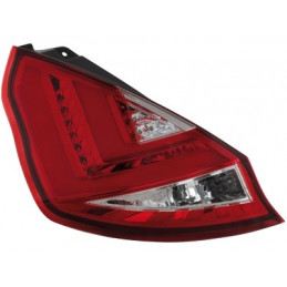 Feux arrière Ford Fiesta 08- LED rouge / chrome