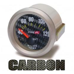 Manométre température d'eau 52mm Look carbone