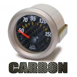 Manométre température d'huile 52mm Look carbone