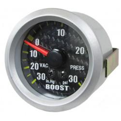 Manométre pression turbo 52mm Look carbone
