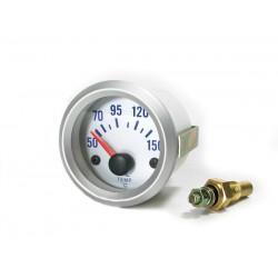 Manométre de température d'huile 52mm silver