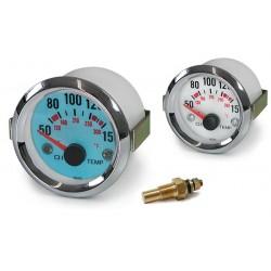 Manométre de température d'huile 52mm plasma