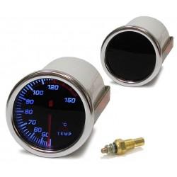 Manométre de température d'eau 52mm Black Magic
