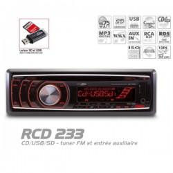 AUTORADIO CD/CDR/CDRW MP3 USB SD 16GB max ENTREE AUX 4x75W