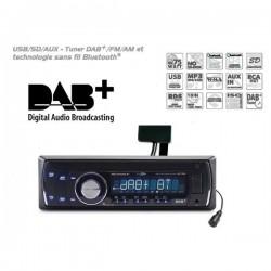 AUTORADIO DAB+ MP3 USB SD ENTREE AUXILIAIRE BLUETOOTH AVEC MICRO EXTERNE 4x75W