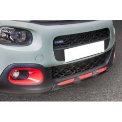 Rajout de pare choc avant + arrière noir y compris les entrées rouges et les garnitures d'échappement Citroën C3 2016-