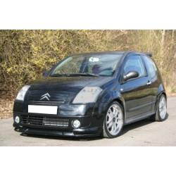 Lame de pare choc avant noir brillant pour Citroën C2