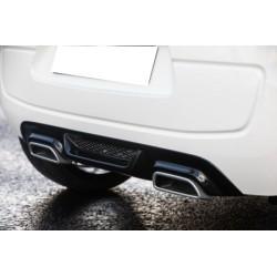 Tablier arrière noir y compris garnitures d'échappement en aluminium Peugeot 108 de 07/2014