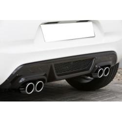 Tablier arrière pour système d'échappement duplex noir Peugeot 108 de 07/2014