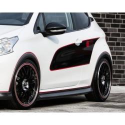 jupes latérales look carbone Peugeot 208 2012-2019