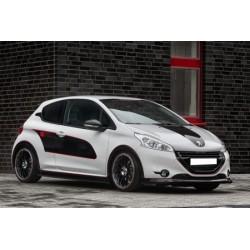 Passages de roue avant et arrière noir Peugeot 208 2012-2019