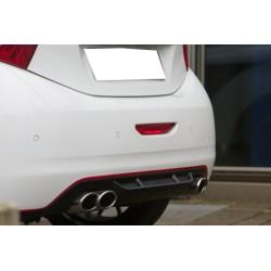Tablier arrière pour système d'échappement duplex noir brillant Peugeot 208 2012-2019