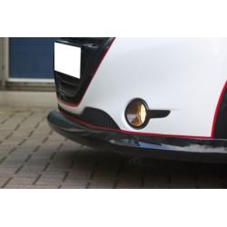 Rajout du pare choc avant noir brillant Peugeot 208 au 05/2015