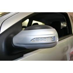 Paire de couvercles pour rétroviseurs extérieur avec clignotant LED intégré Peugeot 307 2001-2009